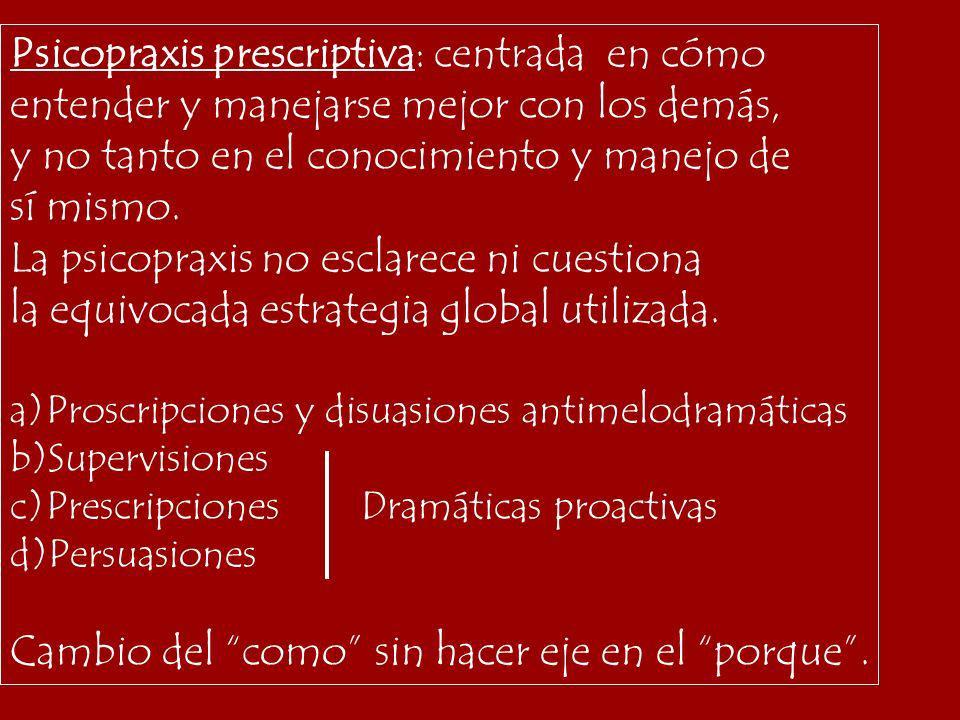 Psicopraxis prescriptiva: centrada en cómo