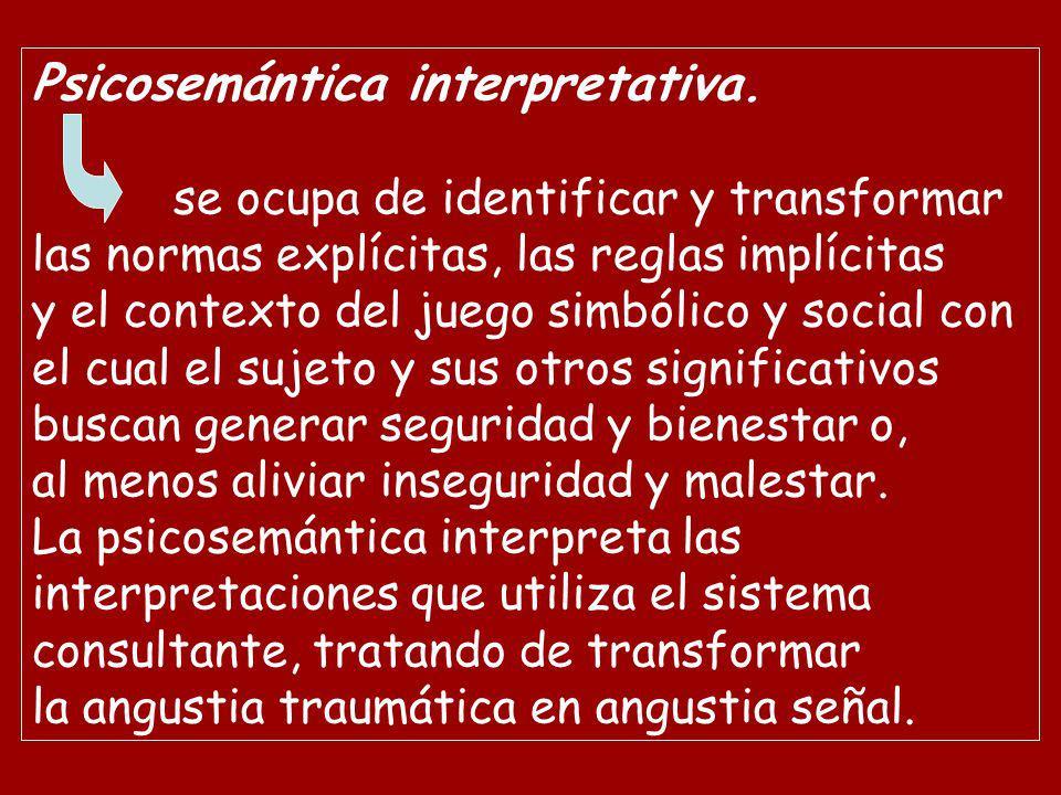 Psicosemántica interpretativa.