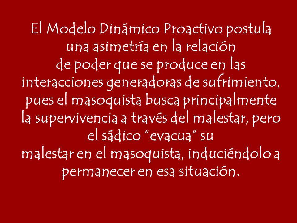 El Modelo Dinámico Proactivo postula una asimetría en la relación
