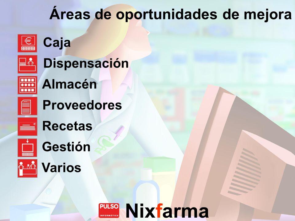 Áreas de oportunidades de mejora
