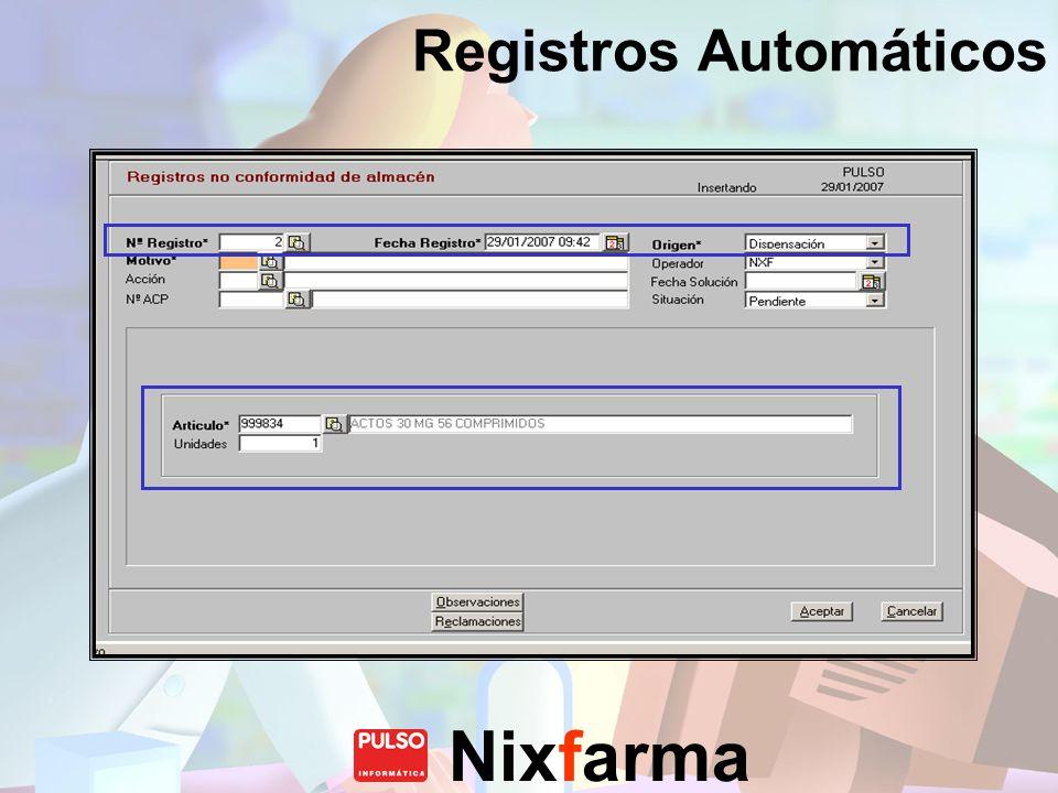 Registros Automáticos