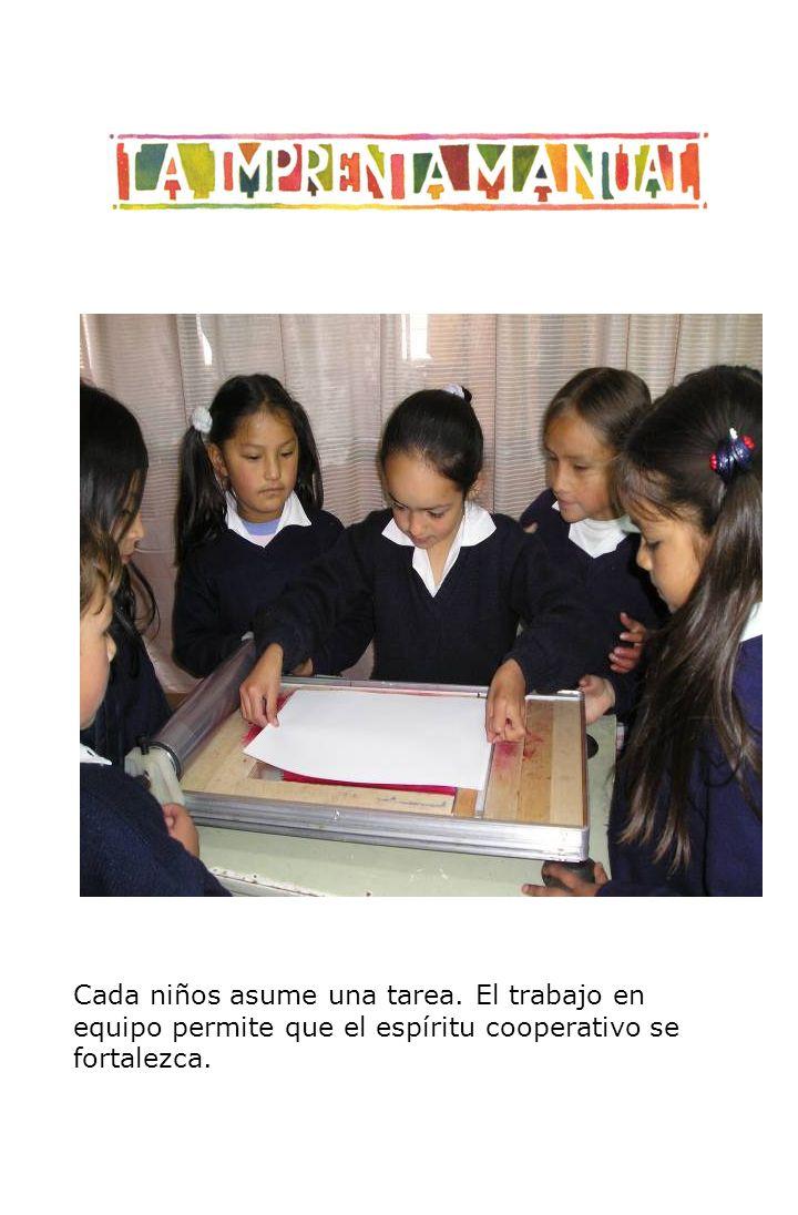 Cada niños asume una tarea