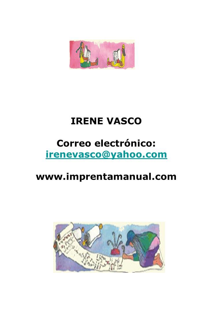 Correo electrónico: irenevasco@yahoo.com