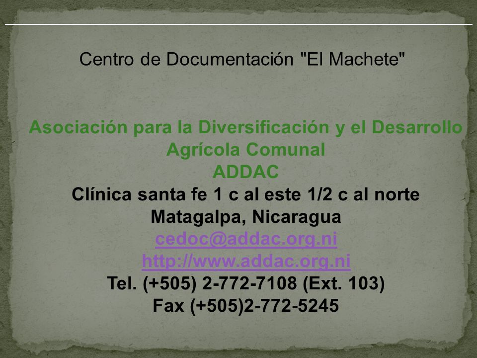 Centro de Documentación El Machete