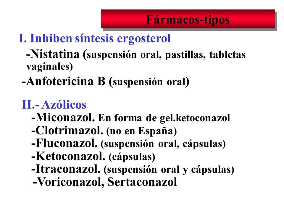 I. Inhiben síntesis ergosterol
