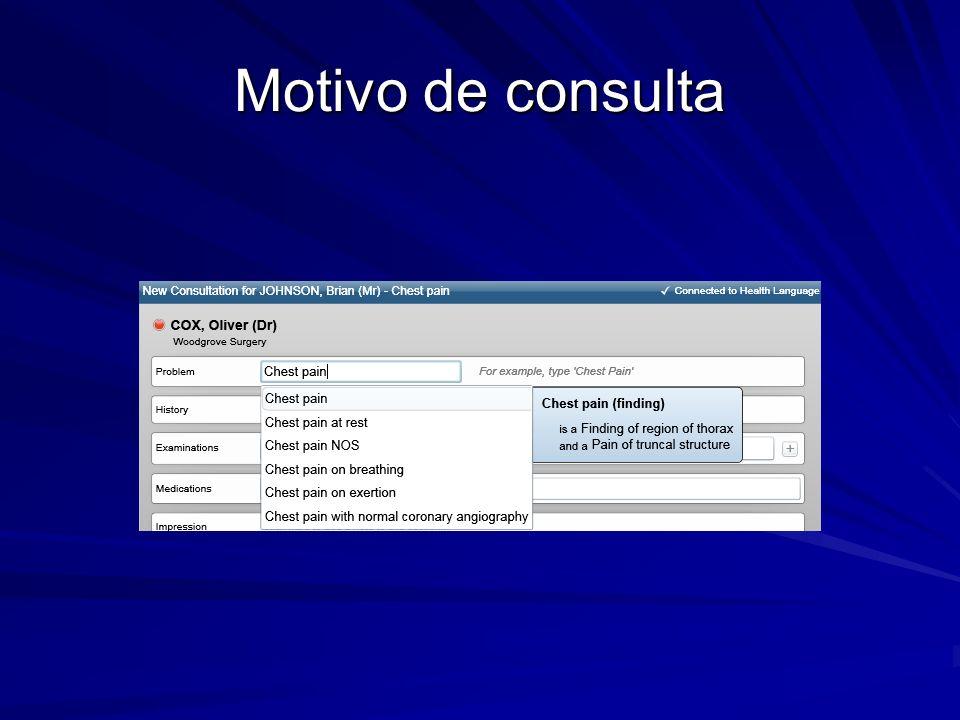 Motivo de consulta Curso de Introducción a la Historia Clínica Electrónica - Proyecto FEMI Salud Digital.
