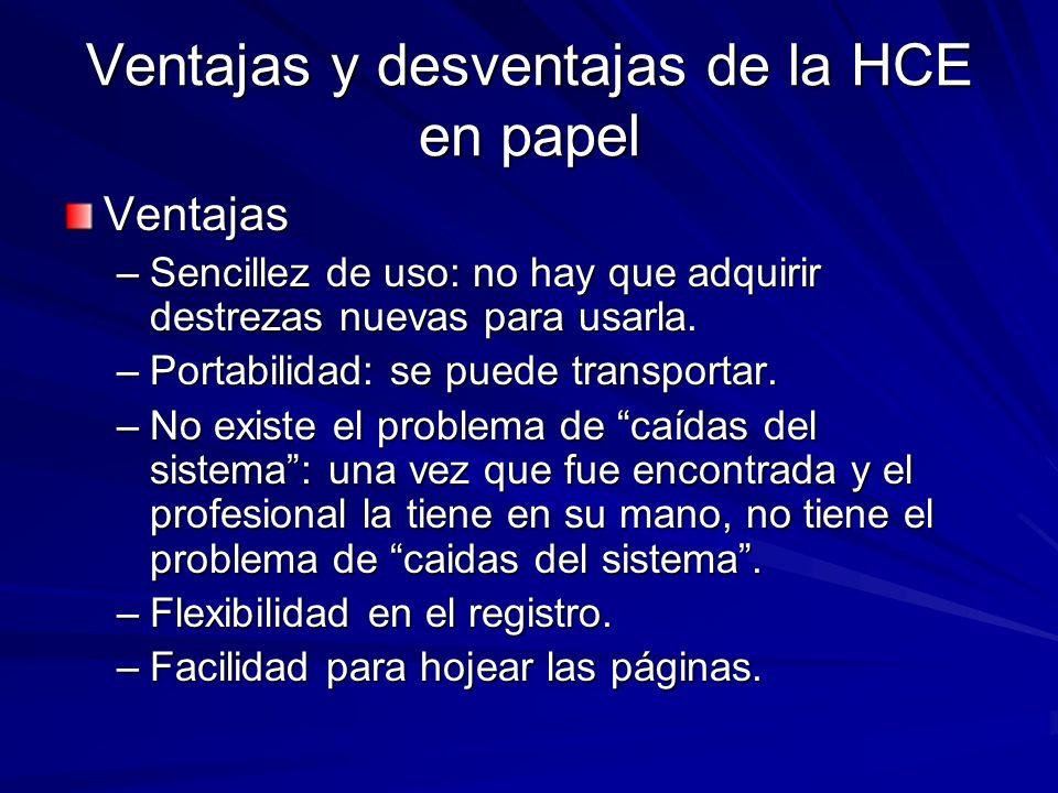 Ventajas y desventajas de la HCE en papel