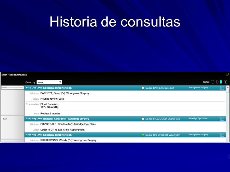 Historia de consultas Curso de Introducción a la Historia Clínica Electrónica - Proyecto FEMI Salud Digital.