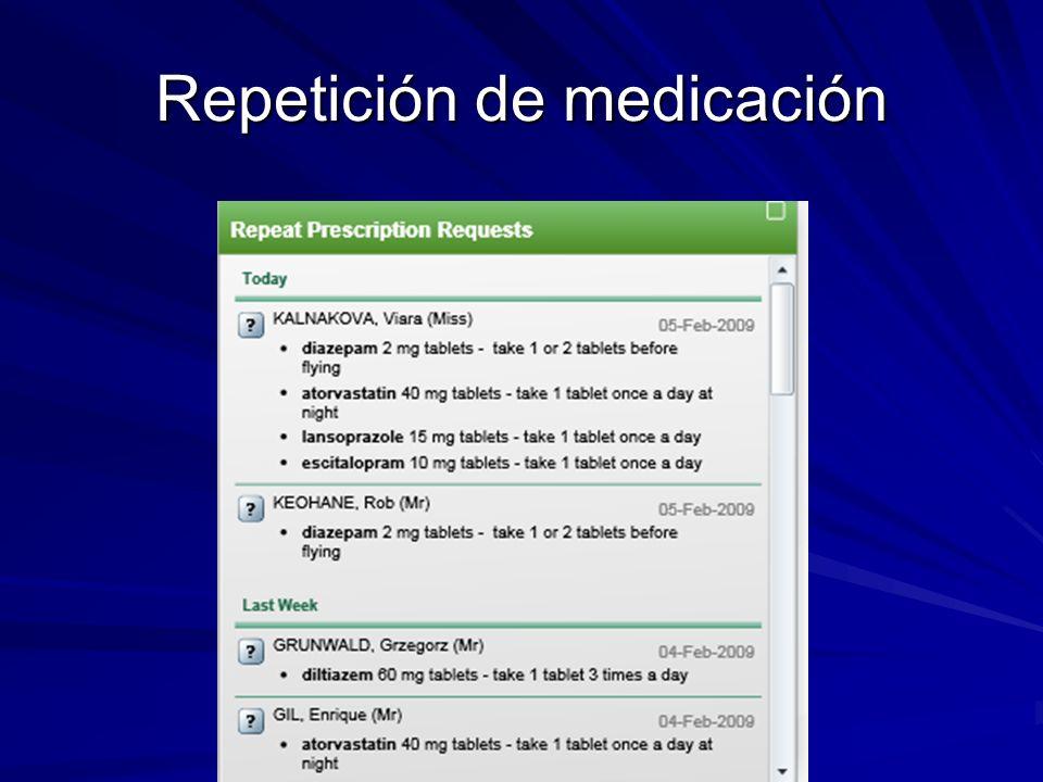 Repetición de medicación