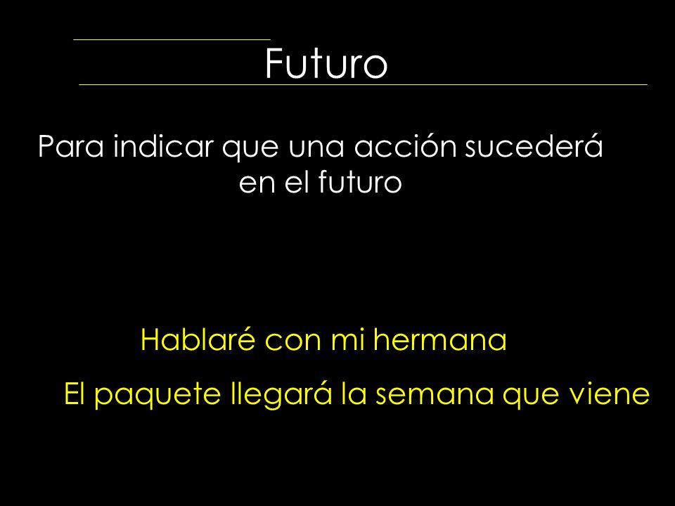 Para indicar que una acción sucederá en el futuro