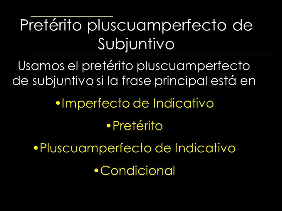 Pretérito pluscuamperfecto de Subjuntivo