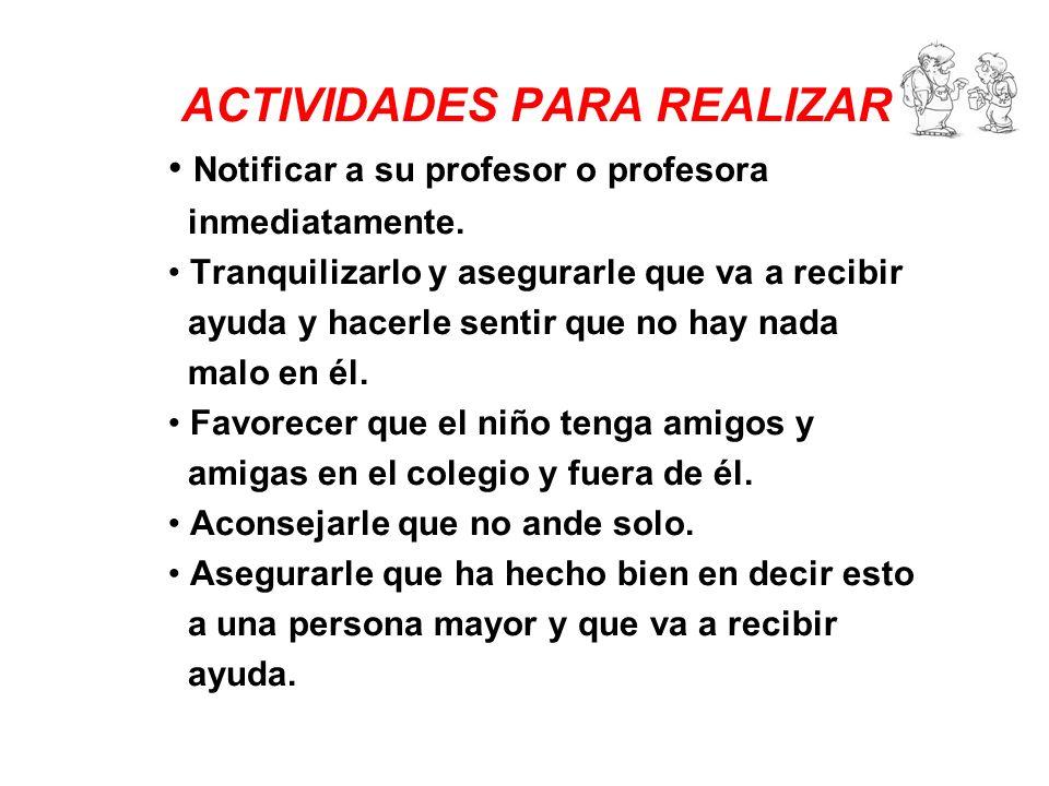 ACTIVIDADES PARA REALIZAR :