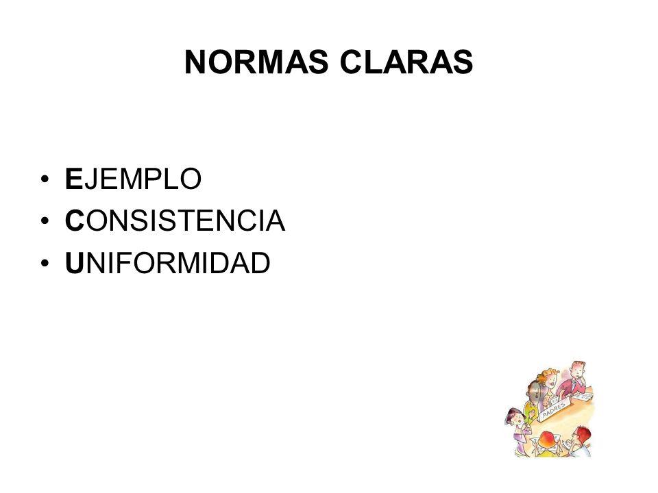 NORMAS CLARAS EJEMPLO CONSISTENCIA UNIFORMIDAD