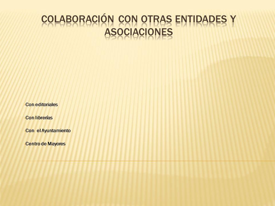 Colaboración con otras entidades y asociaciones