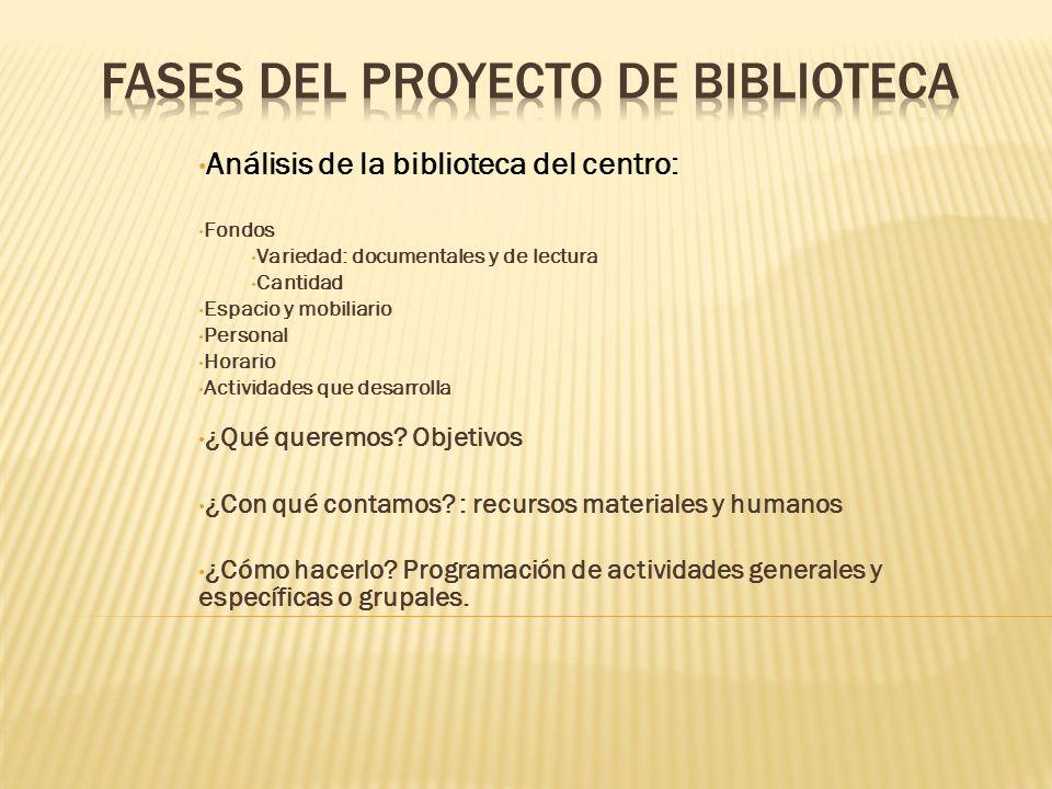 FASES DEL PROYECTO DE BIBLIOTECA