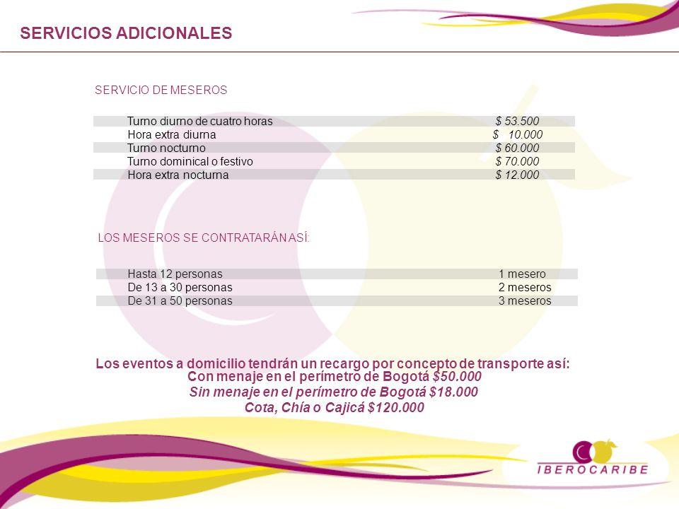 Sin menaje en el perímetro de Bogotá $18.000