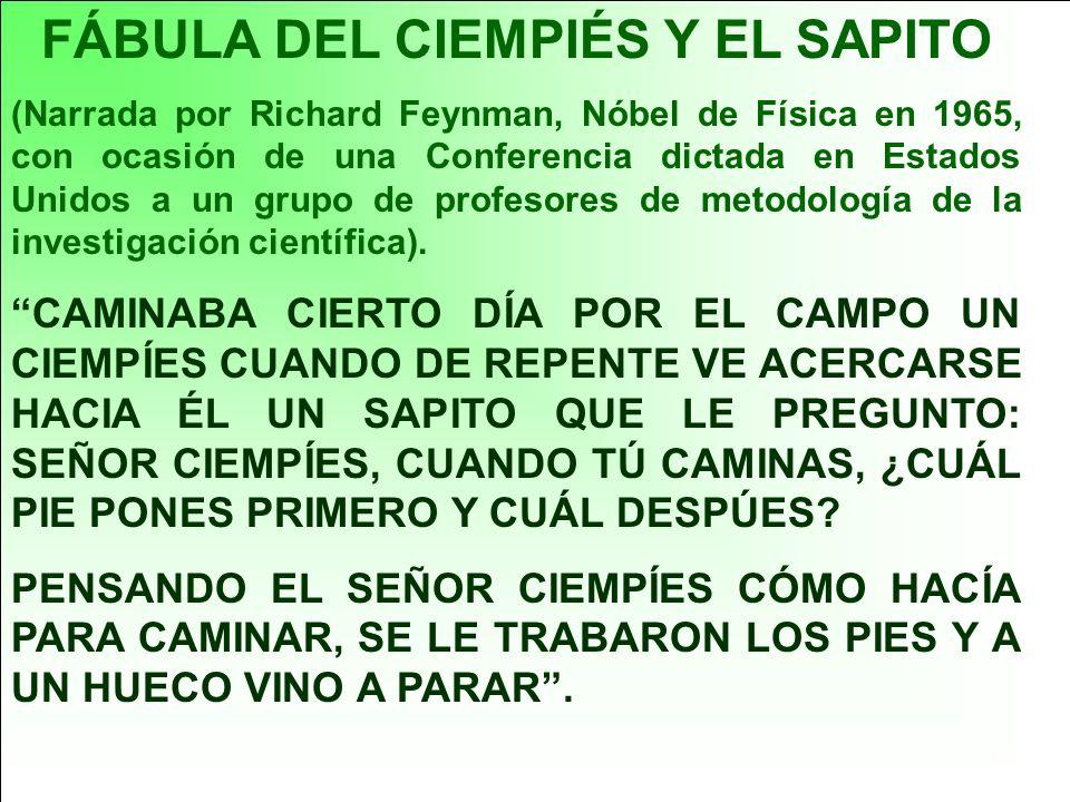 FÁBULA DEL CIEMPIÉS Y EL SAPITO