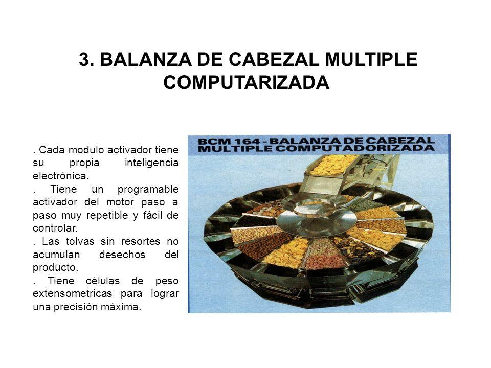 3. BALANZA DE CABEZAL MULTIPLE COMPUTARIZADA