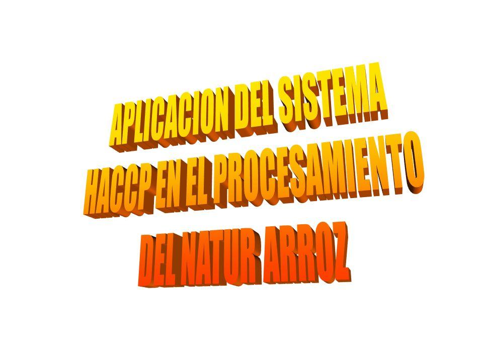 APLICACION DEL SISTEMA HACCP EN EL PROCESAMIENTO DEL NATUR ARROZ