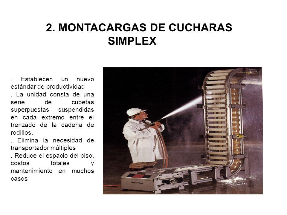 2. MONTACARGAS DE CUCHARAS SIMPLEX
