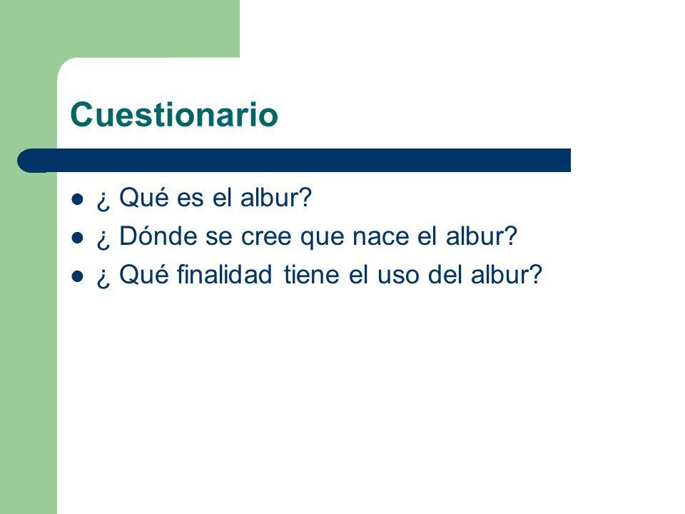 Cuestionario ¿ Qué es el albur ¿ Dónde se cree que nace el albur