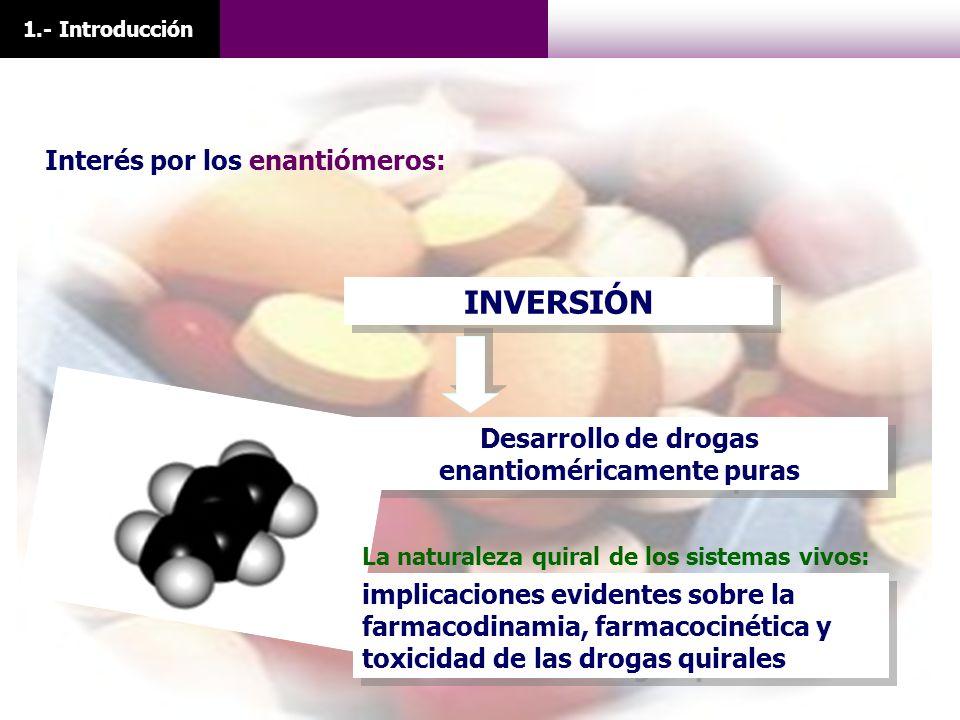 Desarrollo de drogas enantioméricamente puras