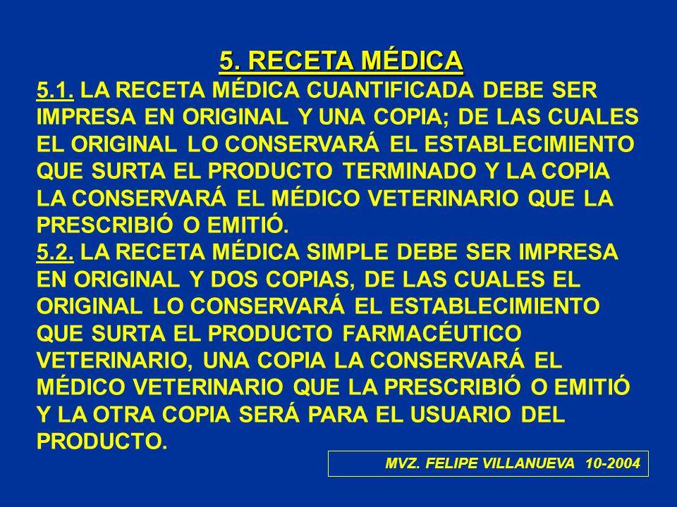 5. RECETA MÉDICA
