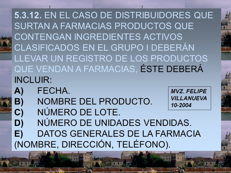 D) NÚMERO DE UNIDADES VENDIDAS.