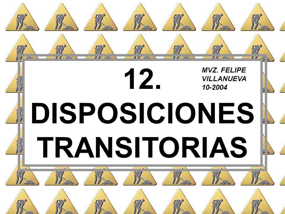 12. DISPOSICIONES TRANSITORIAS