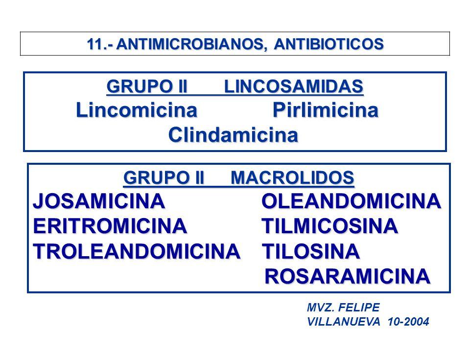 11.- ANTIMICROBIANOS, ANTIBIOTICOS