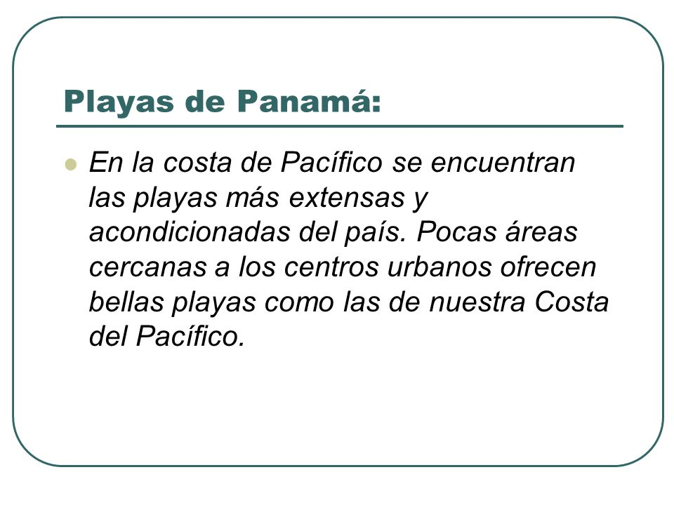 Playas de Panamá: