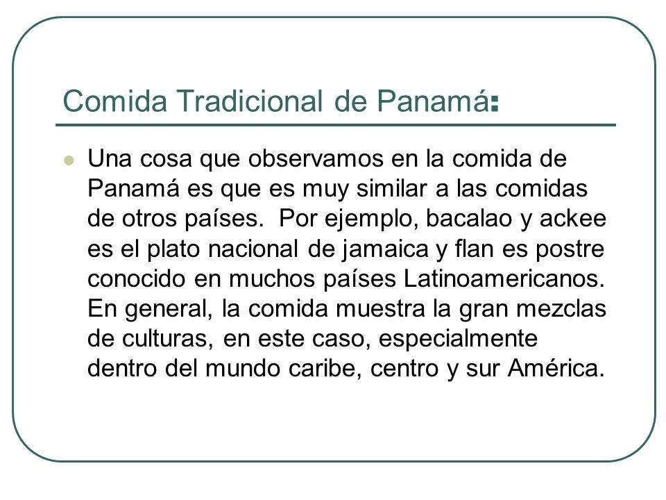 Comida Tradicional de Panamá: