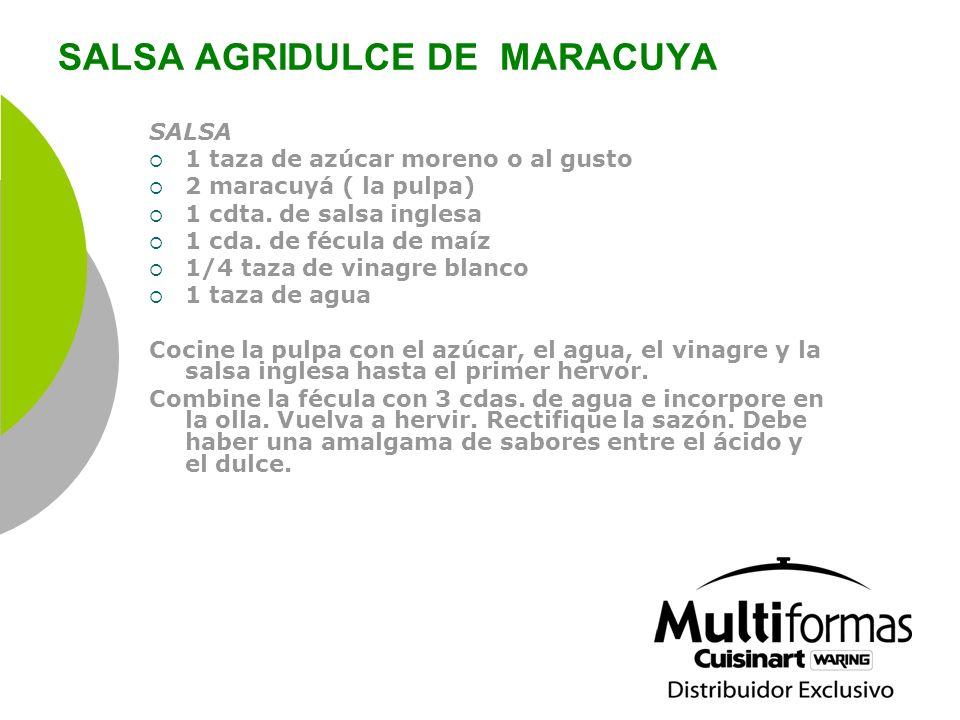 SALSA AGRIDULCE DE MARACUYA