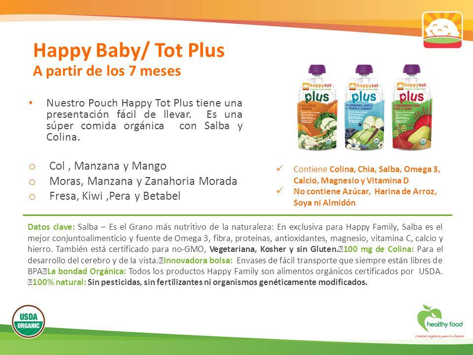 Happy Baby/ Tot Plus A partir de los 7 meses Col , Manzana y Mango