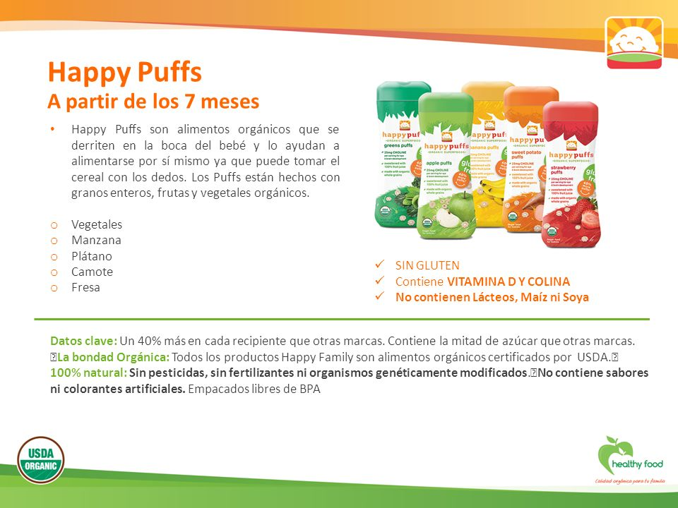 Happy Puffs A partir de los 7 meses