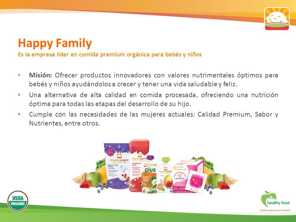 Happy Family Es la empresa líder en comida premium orgánica para bebés y niños