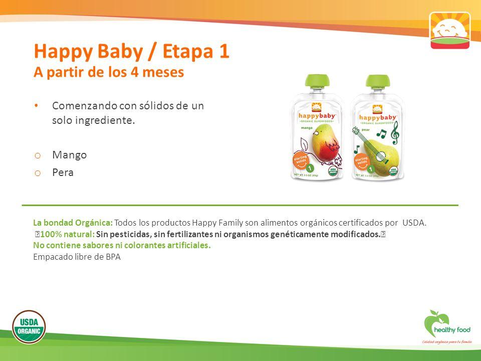 Happy Baby / Etapa 1 A partir de los 4 meses