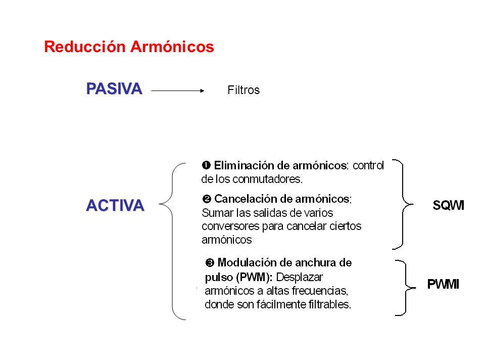 Reducción Armónicos PASIVA ACTIVA Filtros