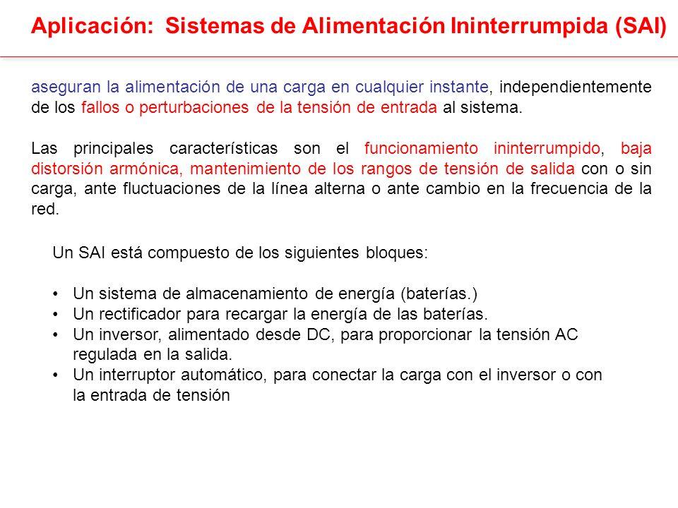 Aplicación: Sistemas de Alimentación Ininterrumpida (SAI)
