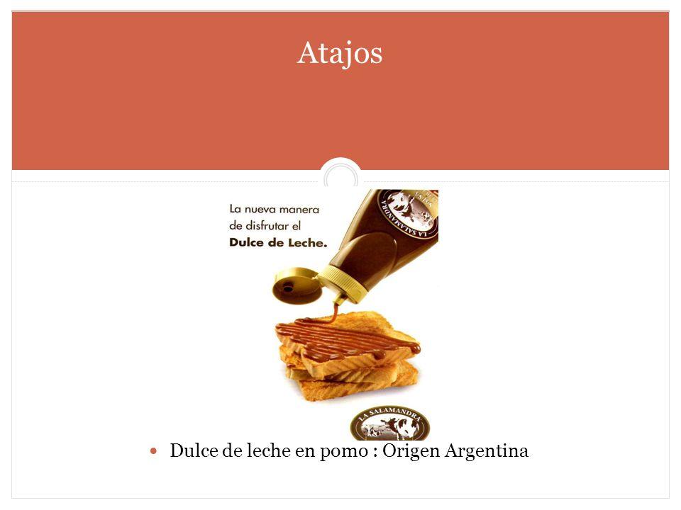 Dulce de leche en pomo : Origen Argentina