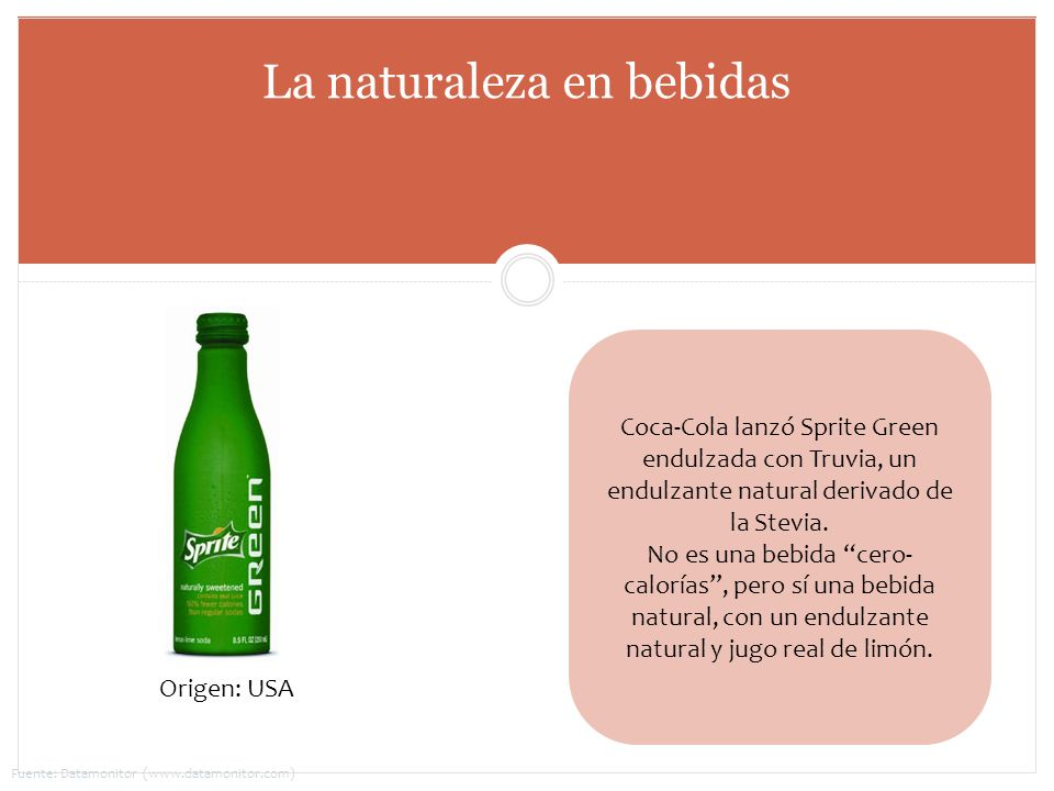 La naturaleza en bebidas