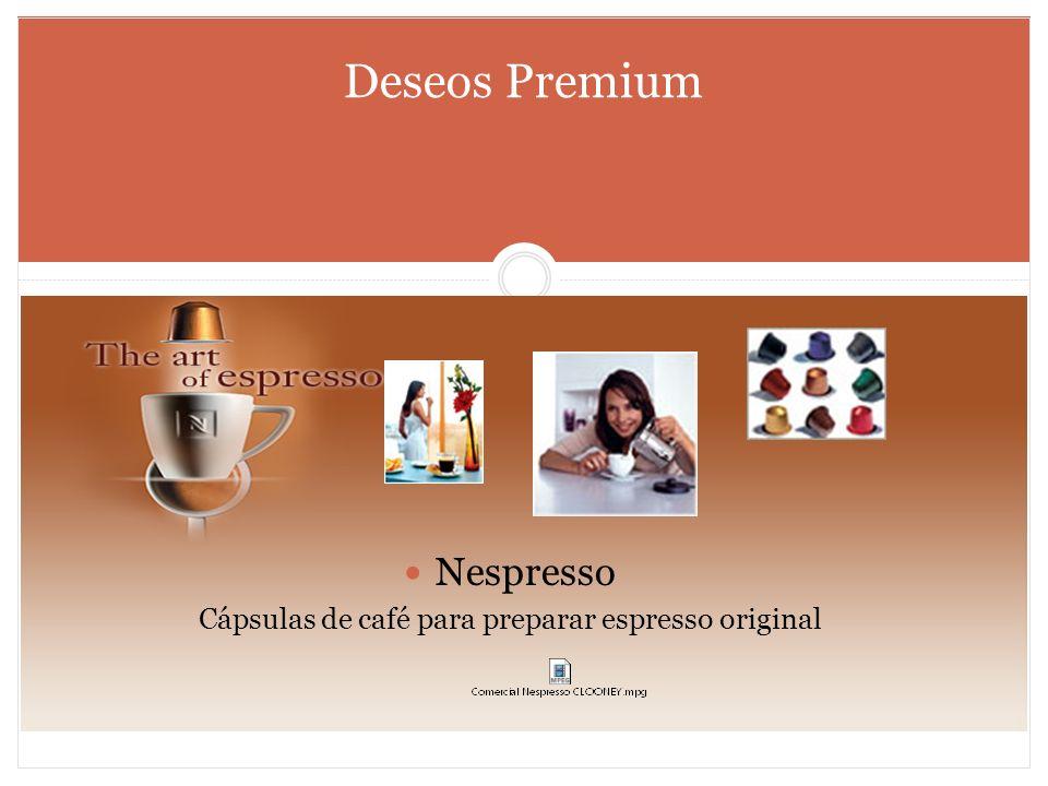 Cápsulas de café para preparar espresso original