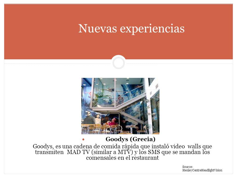 Nuevas experiencias Goodys (Grecia)
