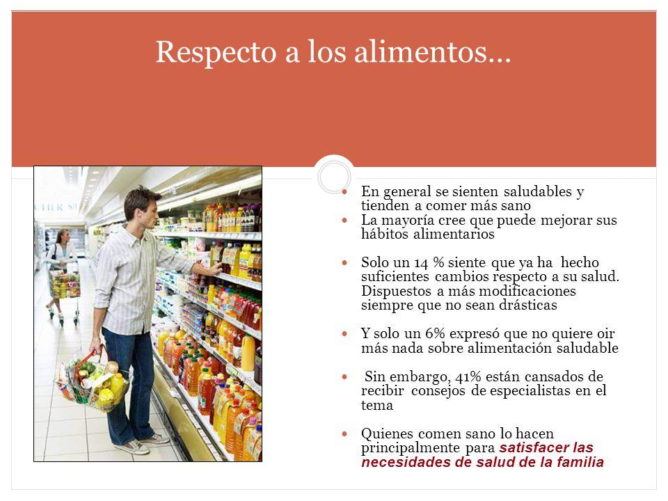 Respecto a los alimentos…