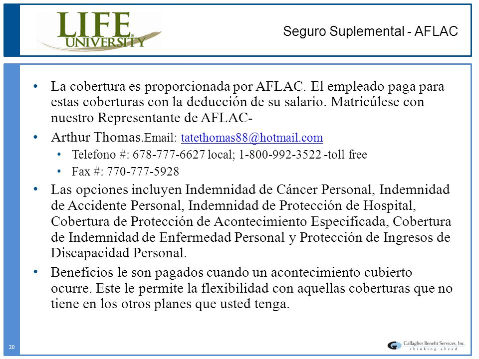 Seguro Suplemental - AFLAC