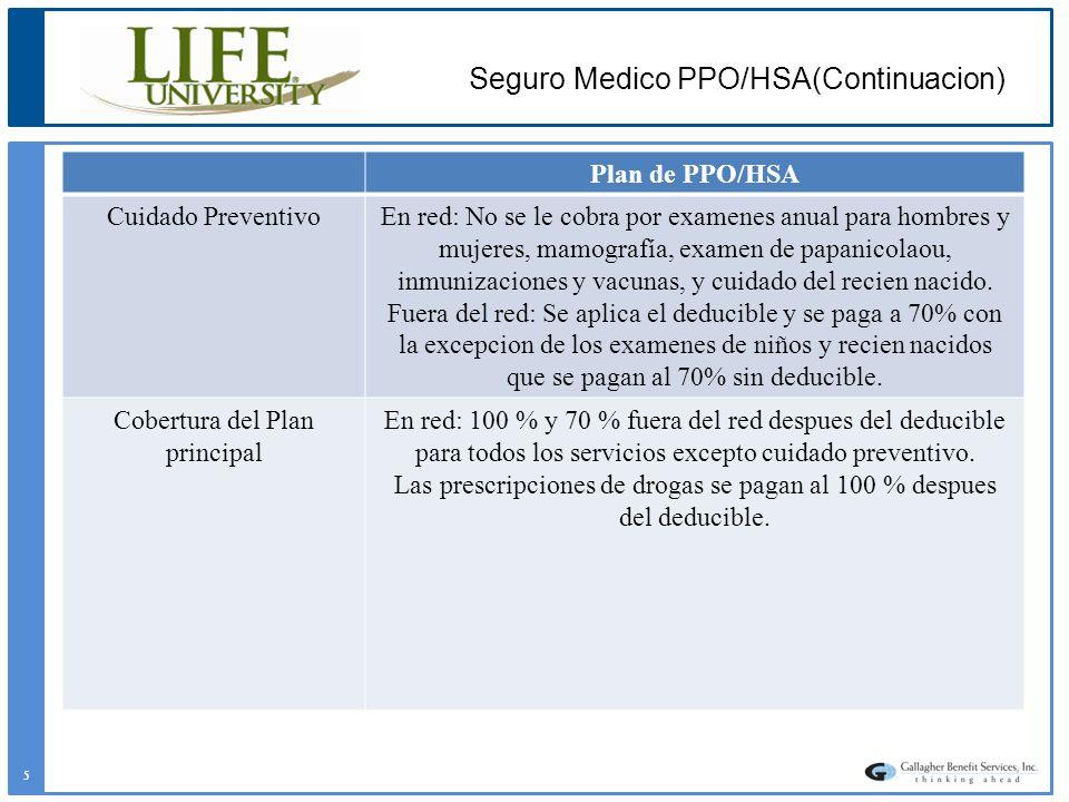 Seguro Medico PPO/HSA(Continuacion)