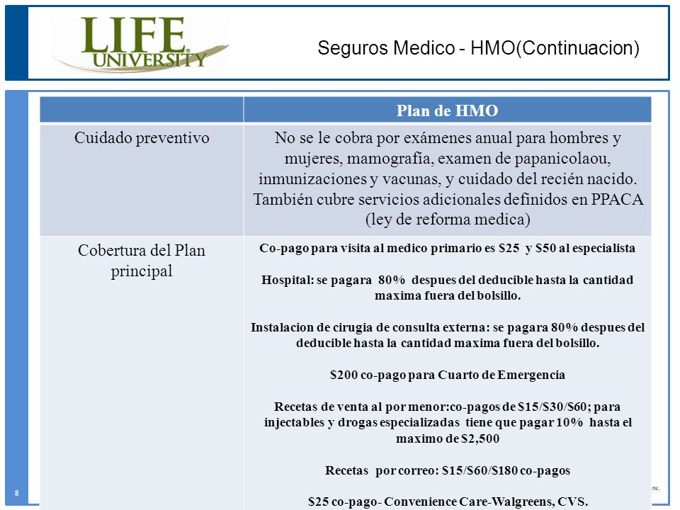 Seguros Medico - HMO(Continuacion)