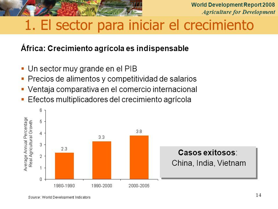 1. El sector para iniciar el crecimiento