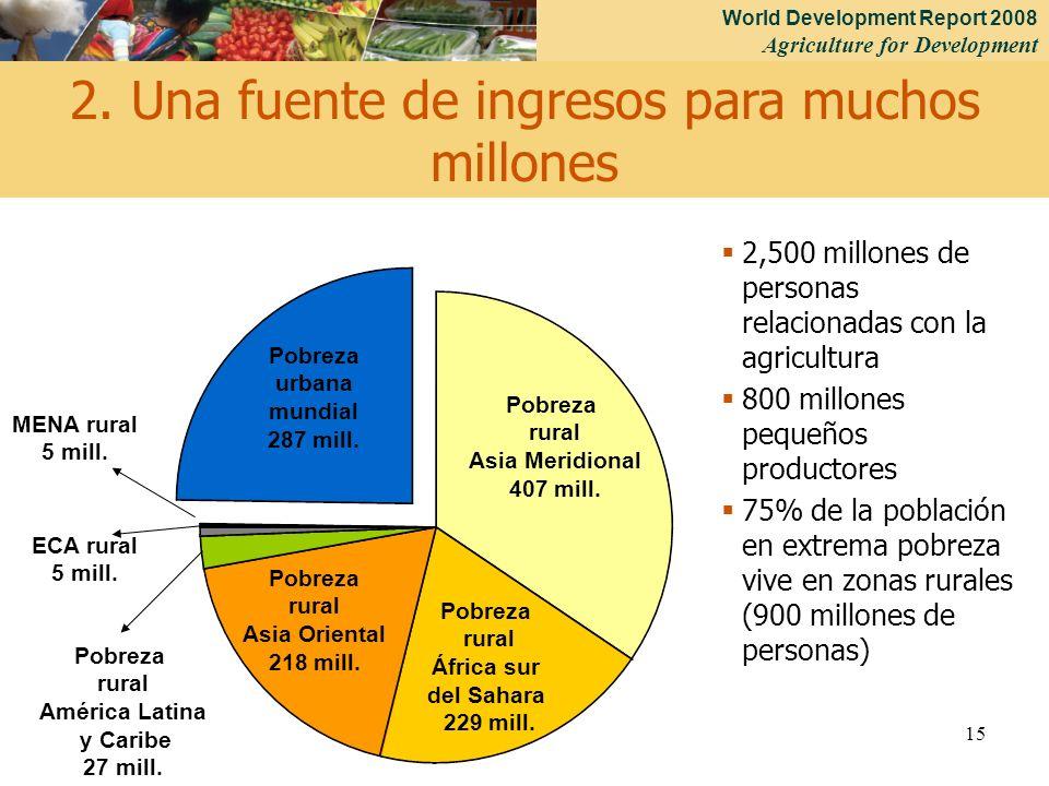 2. Una fuente de ingresos para muchos millones