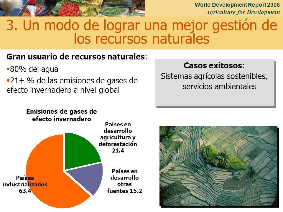 3. Un modo de lograr una mejor gestión de los recursos naturales